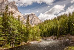 Alberta, Canada, Galatea Creek, HDR, Highwood River, Kananaskis, Kananaskis Village, MacPhun Aurora HDR, Mount Kidd, North America, Rocky Mountains, landscape, mountain, mountains, river