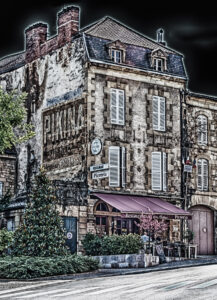Aquitaine, EVENTS, Europe, France, France 2011, HDR, HDR Efex Pro, Le Périgor Noir, Sarlat, building, cityscape, commercial building, digital art, restaurant