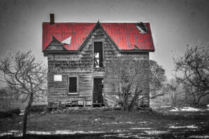 Canada, Collingwood, HDR, MacPhun Aurora HDR, North America, Ontario, Rob Roy, abandon, building, digital art, old building, rural