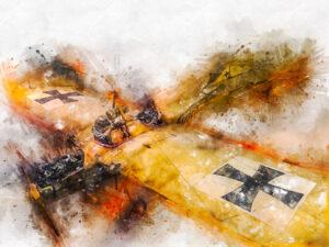 Action - Painting, Blenheim, Marlborough District, New Zealand, Oceania, South Island, air transportation, aircraft, airplane, building, business objects, cellphone, digital art, iPhone, museum, recreation building, war