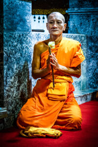 Asia, Chiang Mai, Thailand, buddhist, building, monk, praying, religious, religious building, temple
