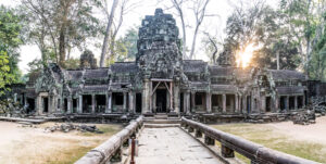 Asia, Cambodia, Siem Reap, Ta Prohm Temple, landscape