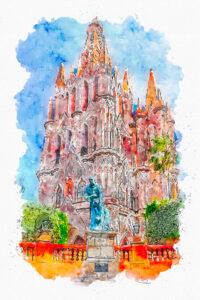 EVENTS, HDR, La Parroquia de San Miguel Arcangel, Mexico, North America, San Miguel de Allende, San Miguel14, digital art