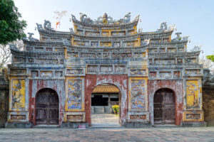 Asia, HDR, Hue, MacPhun Aurora HDR, The Citadel in the Imperial City of Hue, Vietnam, architectural detail, fence, gate, home parts