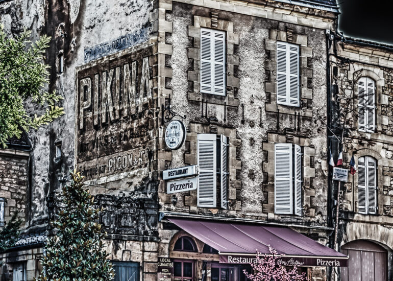 Aquitaine, EVENTS, Europe, France, France 2011, HDR, HDR Efex Pro, Le Périgor Noir, Sarlat, building, cityscape, commercial building, digital art, restaurant