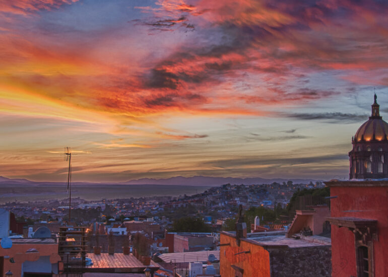 EVENTS, HDR, HDR Efex Pro, Jardin, Mexico, North America, San Miguel, San Miguel de Allende, San Miguel12, architectural detail, evening, home parts, landscape, roof top, sunset, travel