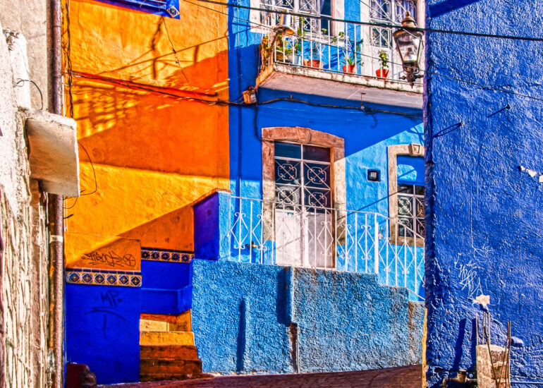 EVENTS, Guanajuato, HDR, HDR Efex Pro, Mexico, North America, San Miguel12, building, cityscape, morning, morning light, road