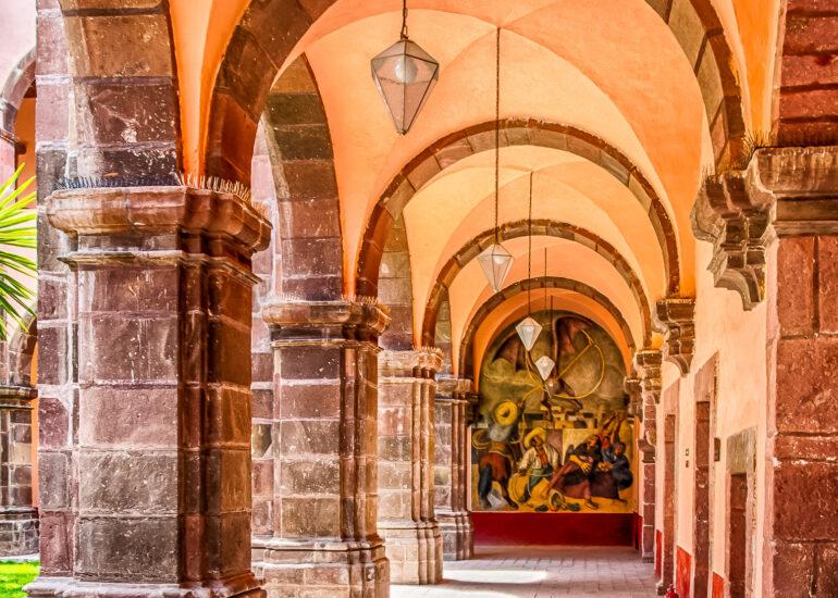ART, Bellas Artes, Colonia - Centro Historico, EVENTS, Mexico, North America, San Miguel, San Miguel de Allende, San Miguel13, arch, architectural detail, mural, street art