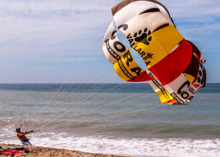 EVENTS, Puerto Vallarta 2014, accessories, beach, parachute, travel, umbrella, water, water fall