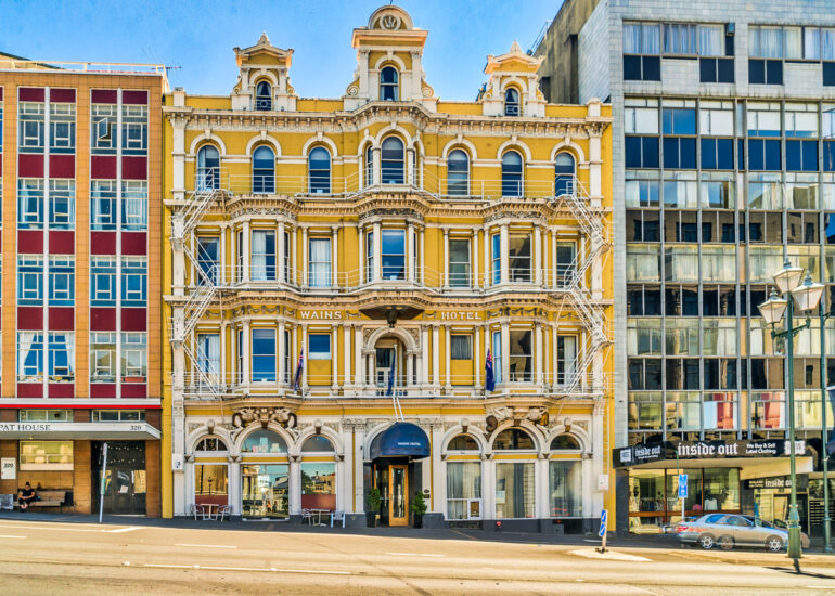 Dunedin, New Zealand, Oceania, South Island, building, old building