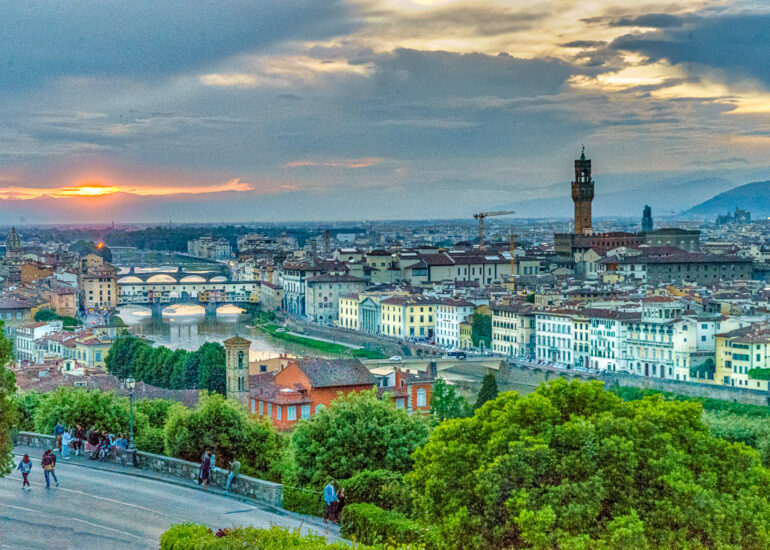 Arno River, Europe, Florence, HDR, Italy, MacPhun Aurora HDR, landscape