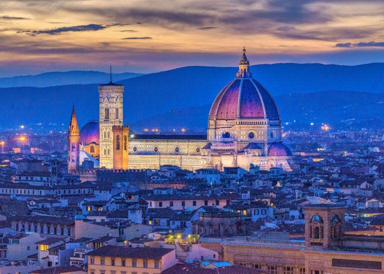 Europe, Florence, HDR, Italy, MacPhun Aurora HDR, blue light, night