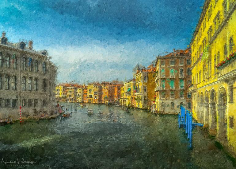Action - Painting, Action - Watercolour, Europe, HDR, Italy, MacPhun Aurora HDR, PS_Action-Paint-VamGogh, Venice, digital art