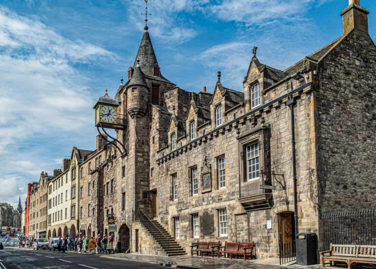 Edinburgh, Europe, Royal Mile, Scotland, United Kingdom, building, museum, old building, recreation building, travel