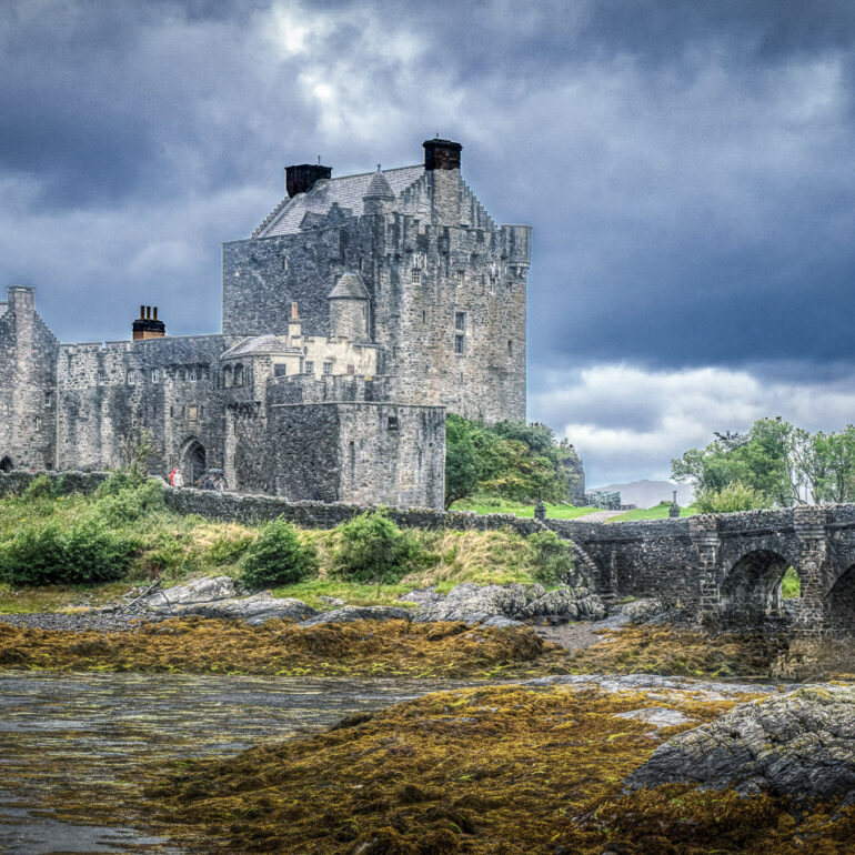 Dornie, Eilean Donan Castle, Europe, Scotland, The Highlands, United Kingdom, landscape