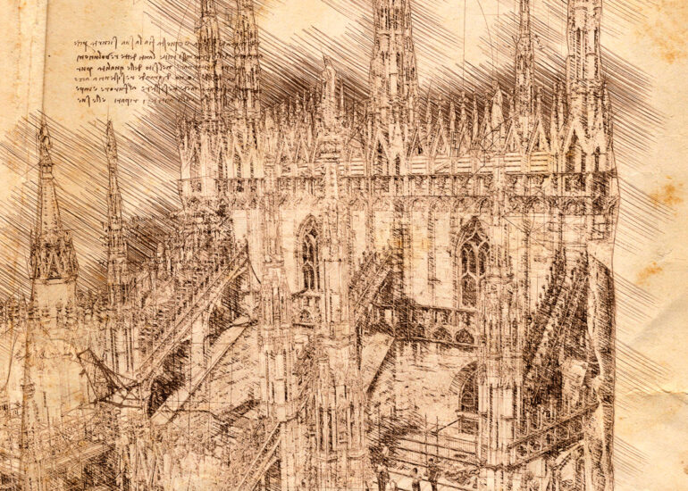Europe, Italy, Milan, da Vinci art, digital art