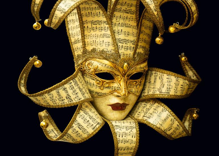 ART, Europe, Italy, Jester, Venetian Mask, Venice, amusement park, architectural detail, building, carnival, digital art, gold leaf, masks, recreation building