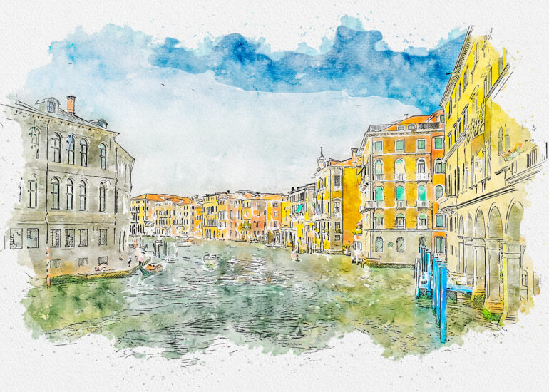 Action - Painting, Action - Watercolour, Europe, HDR, Italy, MacPhun Aurora HDR, PS_Action- Aquarelleum, Venice, water