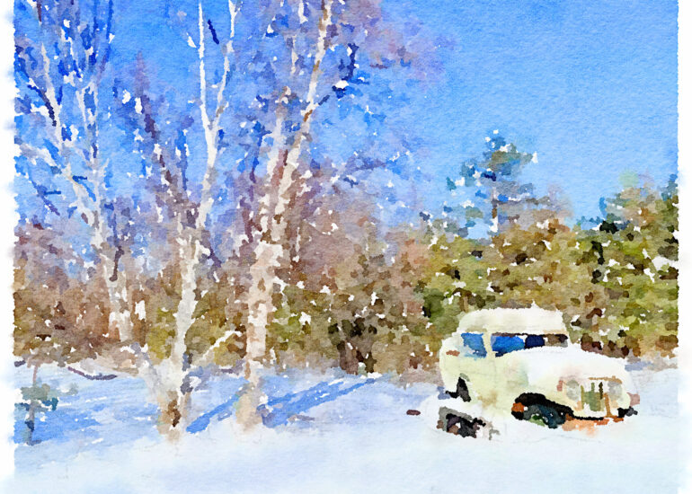Canada, Collingwood, Georgian Trail, North America, Ontario, PS-APP_Waterlogue, Winter, business objects, cellphone, iPhone 12 Pro, winter scene